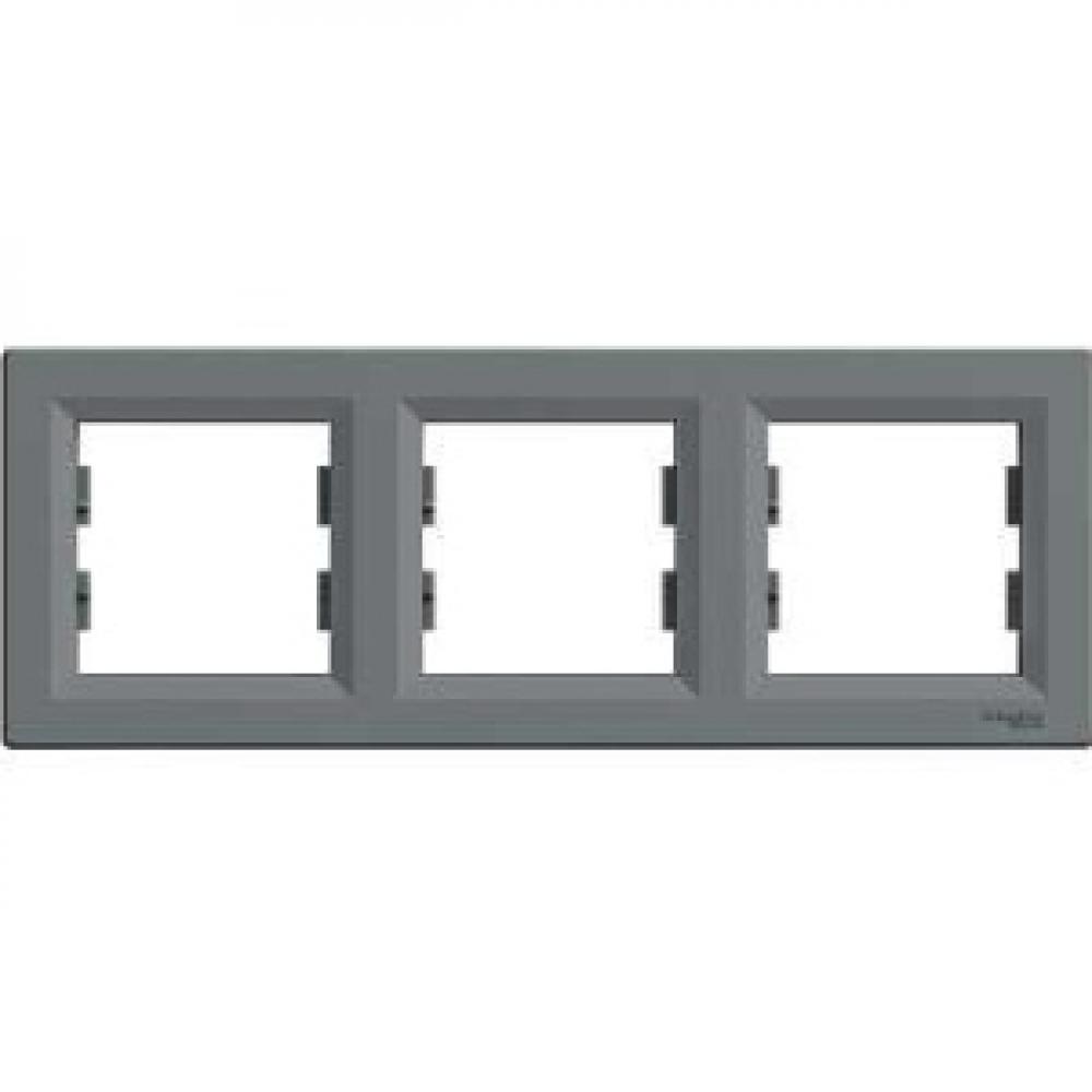 Рамка тройная сталь (ASFORA)