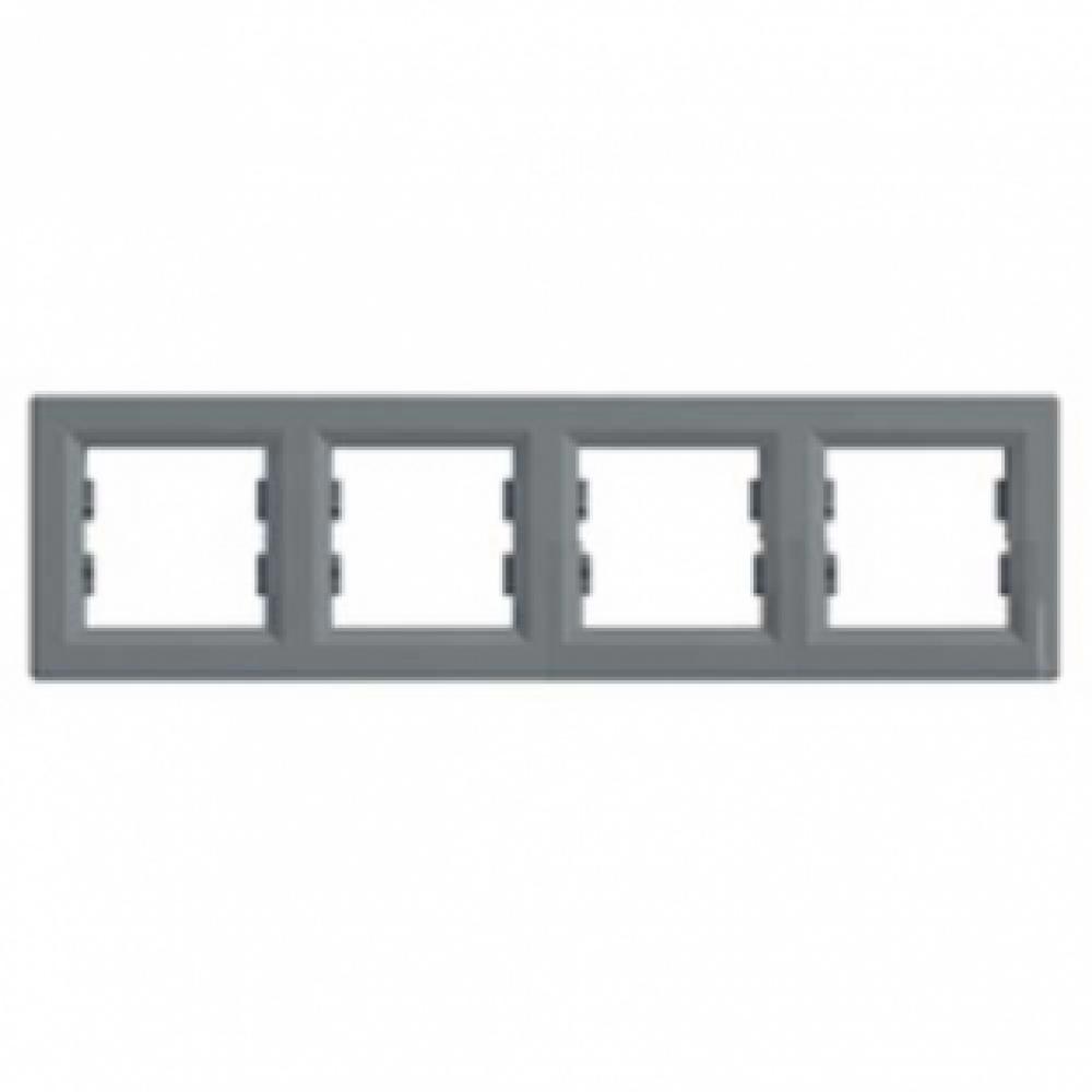 Рамка четверная сталь (ASFORA)