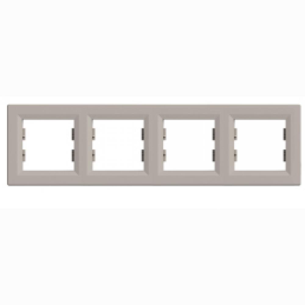Рамка четверная бронза (ASFORA)