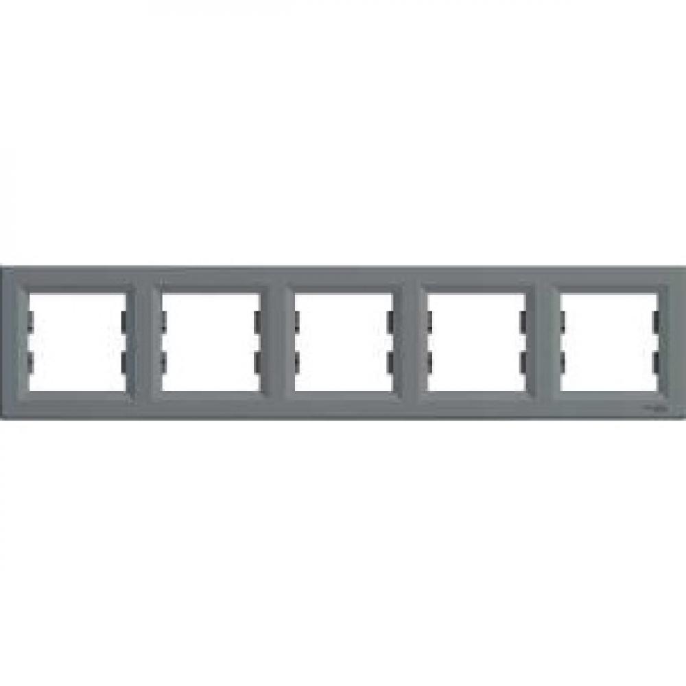 Рамка пятиместная сталь (ASFORA)