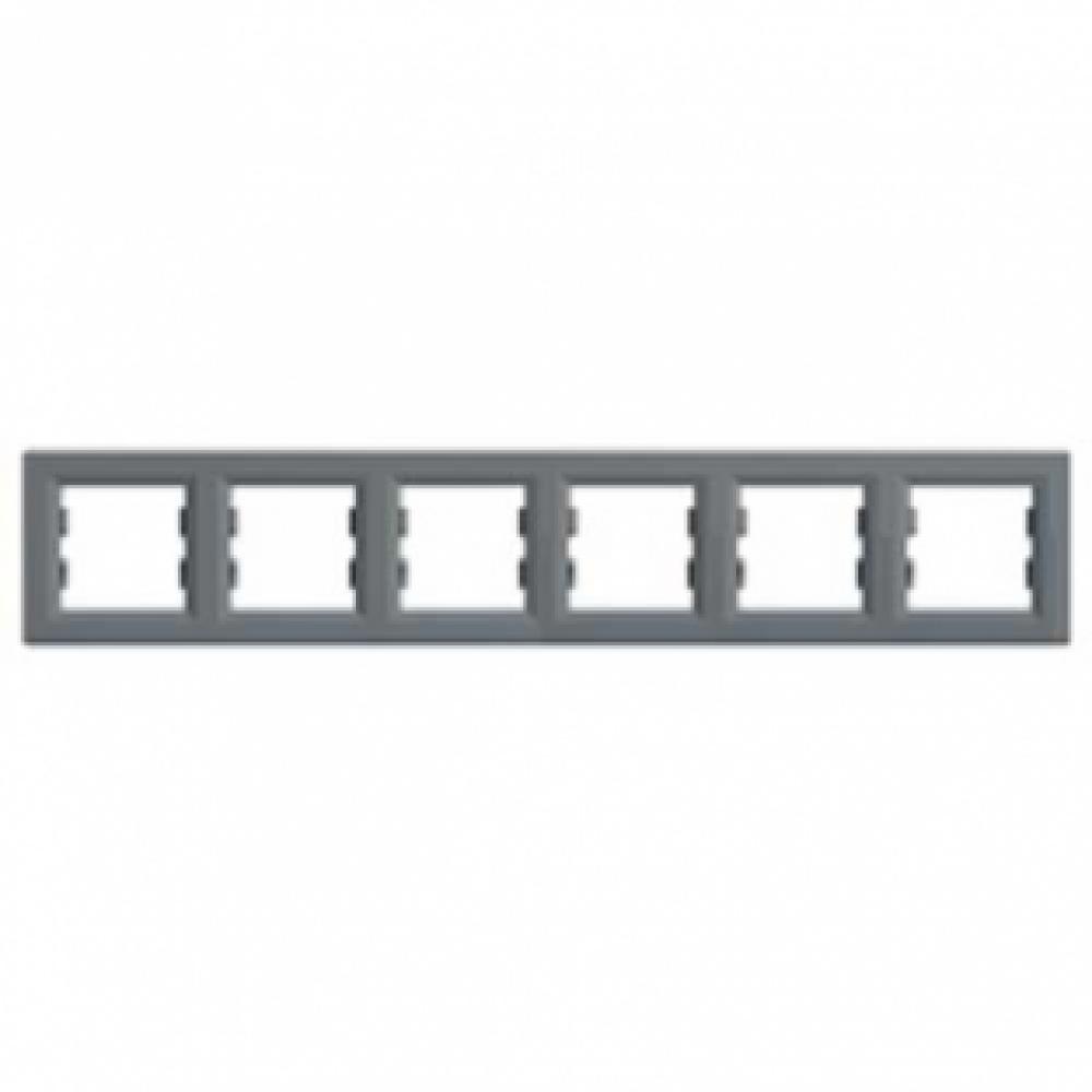 Рамка шестимісна сталь (ASFORA)