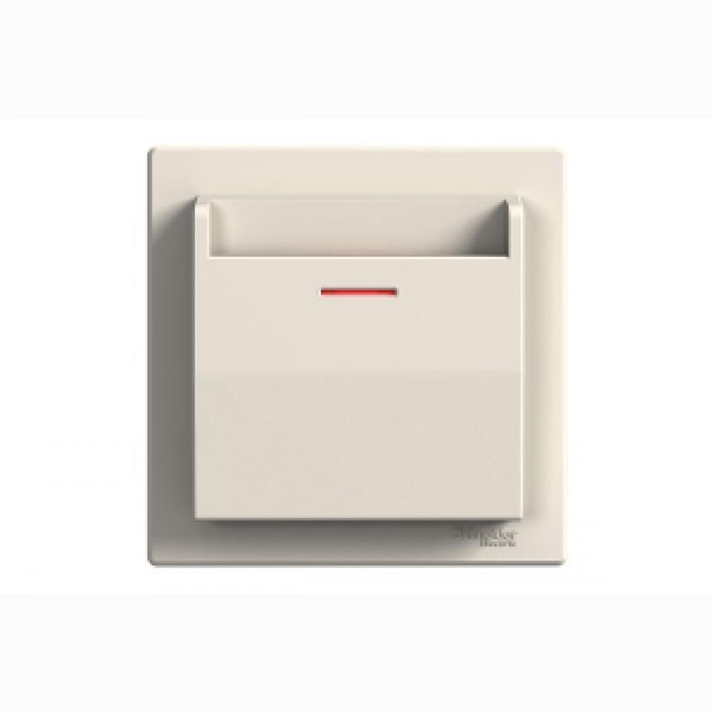Выключатель карточный крем (ASFORA)