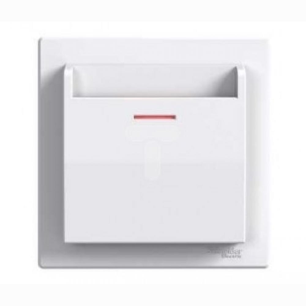 Вимикач картковий електричний білий (ASFORA)
