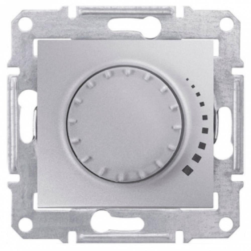 Выключатель диммер поворотно-нажимной алюм. (SEDNA)