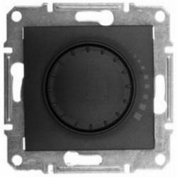 Выключатель диммер поворотно-нажимной графит (SEDNA)