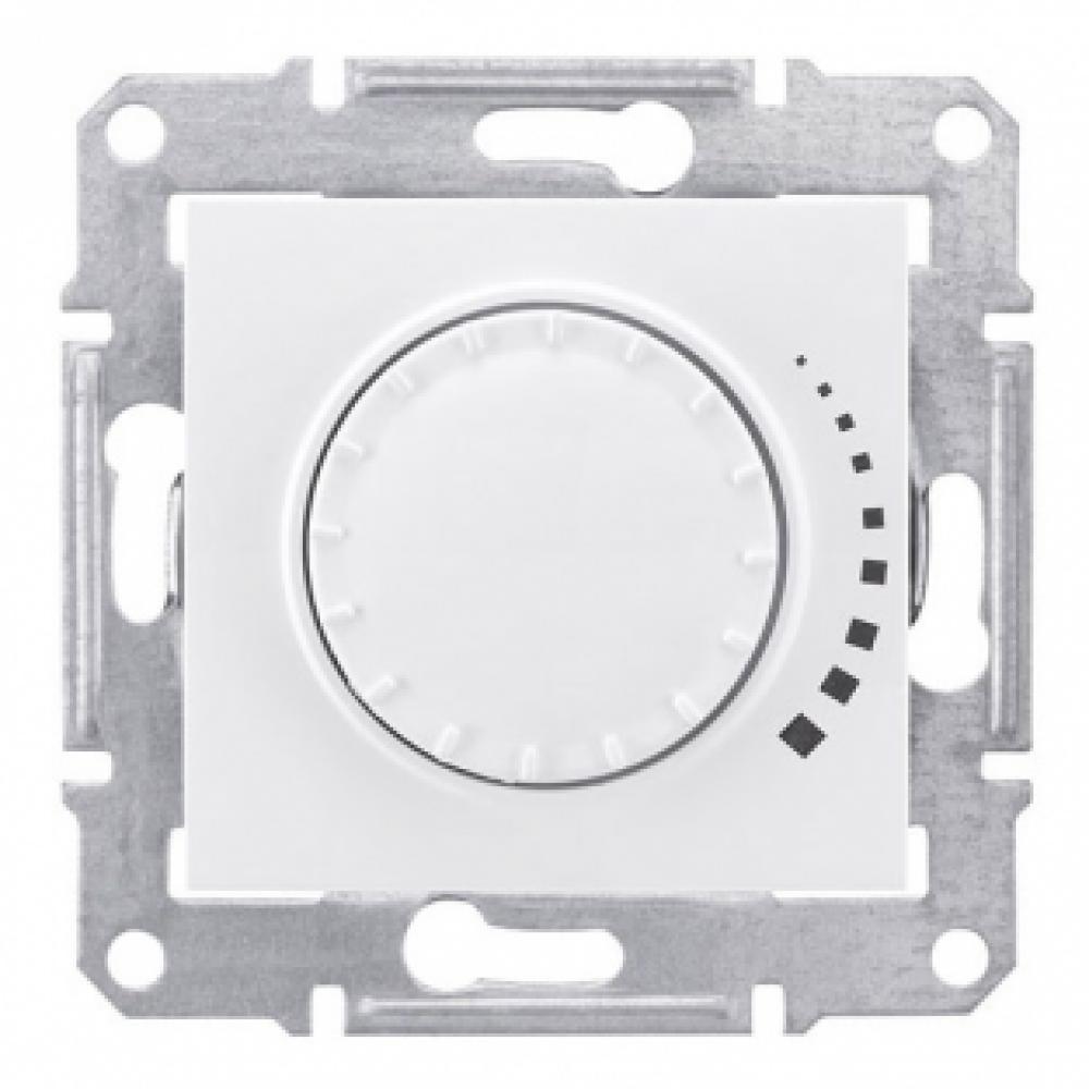 Выключатель диммер емкостный поворотный, белый (SEDNA)