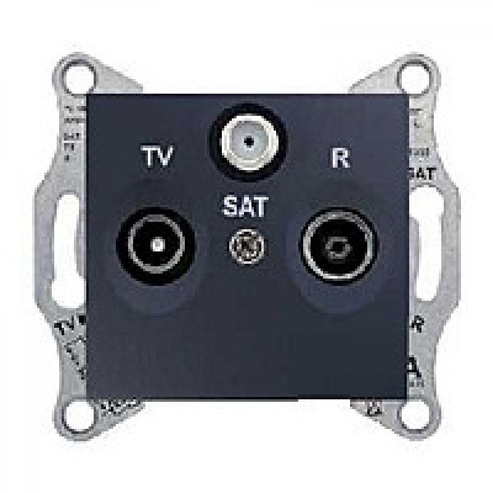 TV/R/SAT розетка проходная титан(SEDNA)