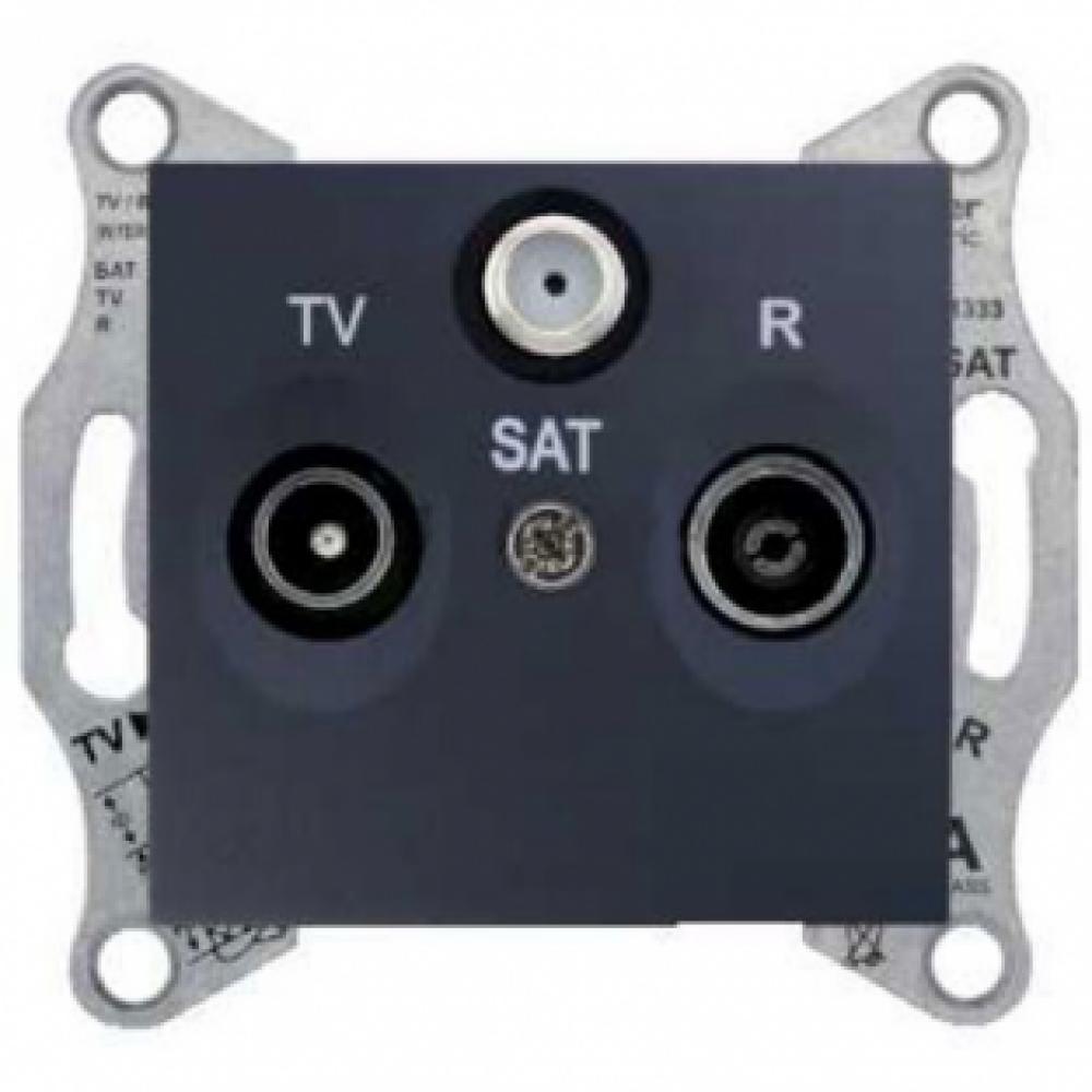 TV/R/SAT розетка конечная графит (SEDNA)