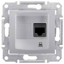 Компьютерная розетка алюминиевая (SEDNA)