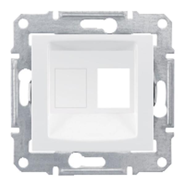 Адаптер для коннекторов АМР одиночный белый (SEDNA)