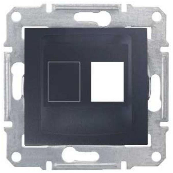 Адаптер для коннекторов АМР одиночный графит (SEDNA)