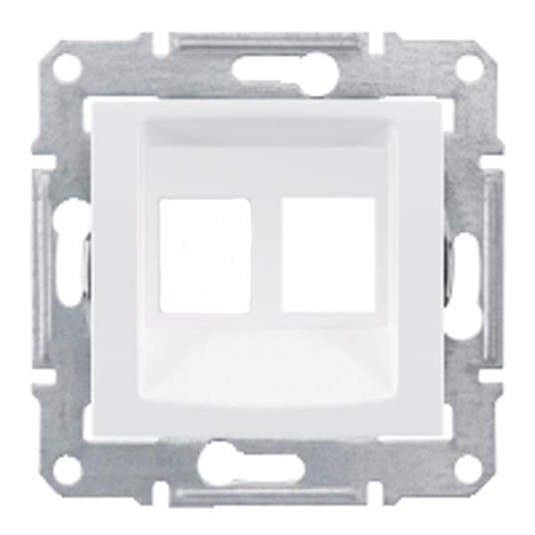 Адаптер для коннекторов АМР двойной белый (SEDNA)