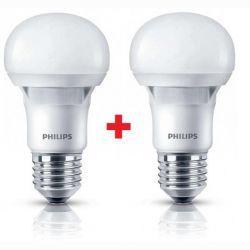 Комплект ламп светодиодных Philips LEDBulb E27 7-60W 230V 3000K A60 Essential (1+1)