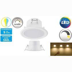 Светильник точечный встраиваемый Philips Smalu 59061 LED TW WH 9W 2700-6500K White