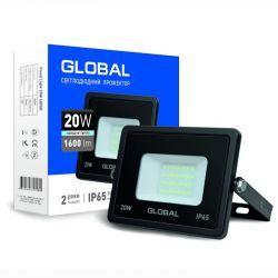 Прожектор светодиодный GLOBAL 20W холодный свет (1-GBL-02-LFL-2060)