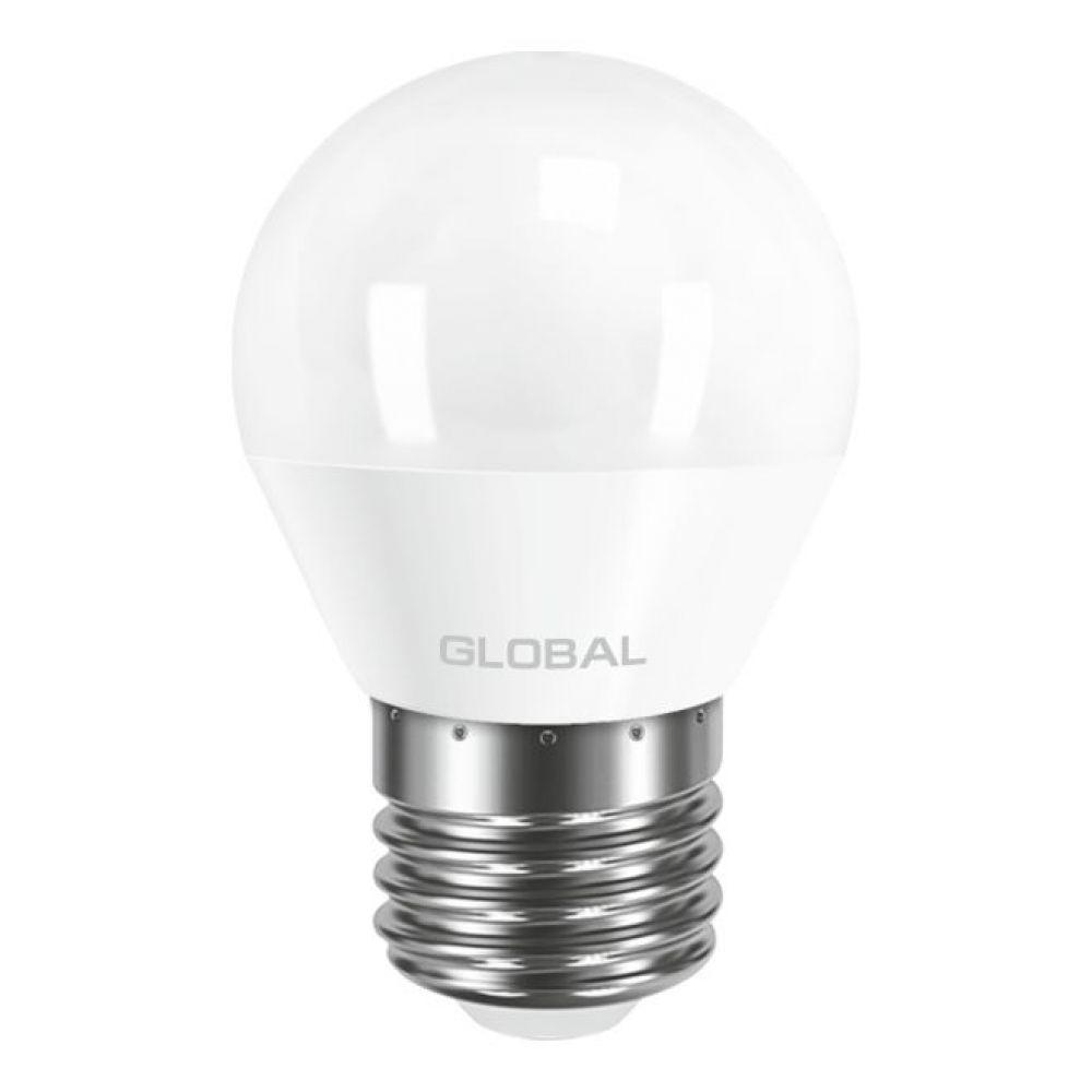LED лампа GLOBAL G45 F 5W 220V E27 AP (арт. 1-GBL-141)