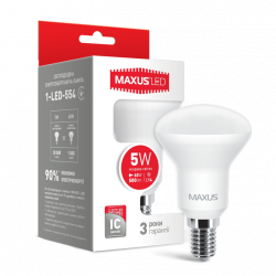 LED лампа MAXUS R50 5W яркий свет 220V E14 (1-LED-554)