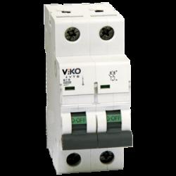 Автомат 2C (двополюсний) 10А 4,5КА 230 / 400V Тип C VIKO (4VTB-2C10)