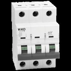 Автомат 3C (триполюсні) 10А 4,5КА 230 / 400V Тип C VIKO (4VTB-3C10)