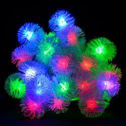 """Гирлянда светодиодная VENOM """"Ежики"""" 30LED RGB, белый провод (LS-HEDGEHOGS-30LED-WC-RGB)"""