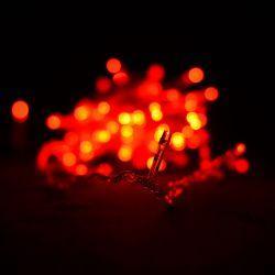 Гірлянда світлодіодна VENOM 100LED, білий провід (LS-LED-100LED-WC-R) Червоний
