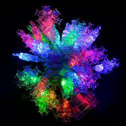 """Гірлянда світлодіодна VENOM """"Сніжинка"""" 30LED RGB, білий провід (LS-SNOWFLAKE-30LED-WC)"""