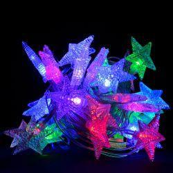 """Гірлянда світлодіодна VENOM """"Зірка"""" 30LED RGB, білий провід (LS-STAR-30LED-WC)"""