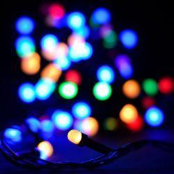 """Гірлянда світлодіодна VENOM вулична """"Нитка"""" лінза 100LED 10м, чорний провід (LS-STRING-100LED-10M-BC)"""