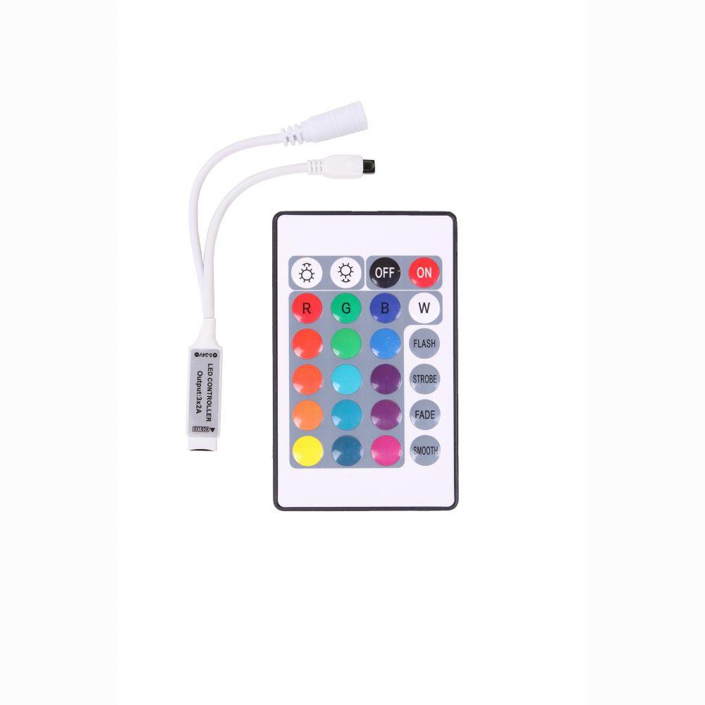RGB-контроллер Venom MINI IR инфракрасный 6А (24 кнопки на пульте)
