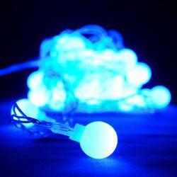 """Гірлянда світлодіодна VENOM """"Кульки"""" 30LED, білий провід (LS-BALLOONS-30LED-WC) Блакитний"""
