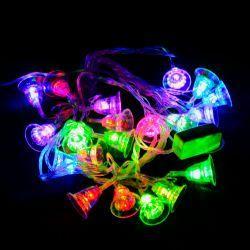 """Гірлянда світлодіодна VENOM """"Дзвіночок"""" 20LED RGB, прозорий дріт (LS-BELL-20LED-BC-RGB)"""