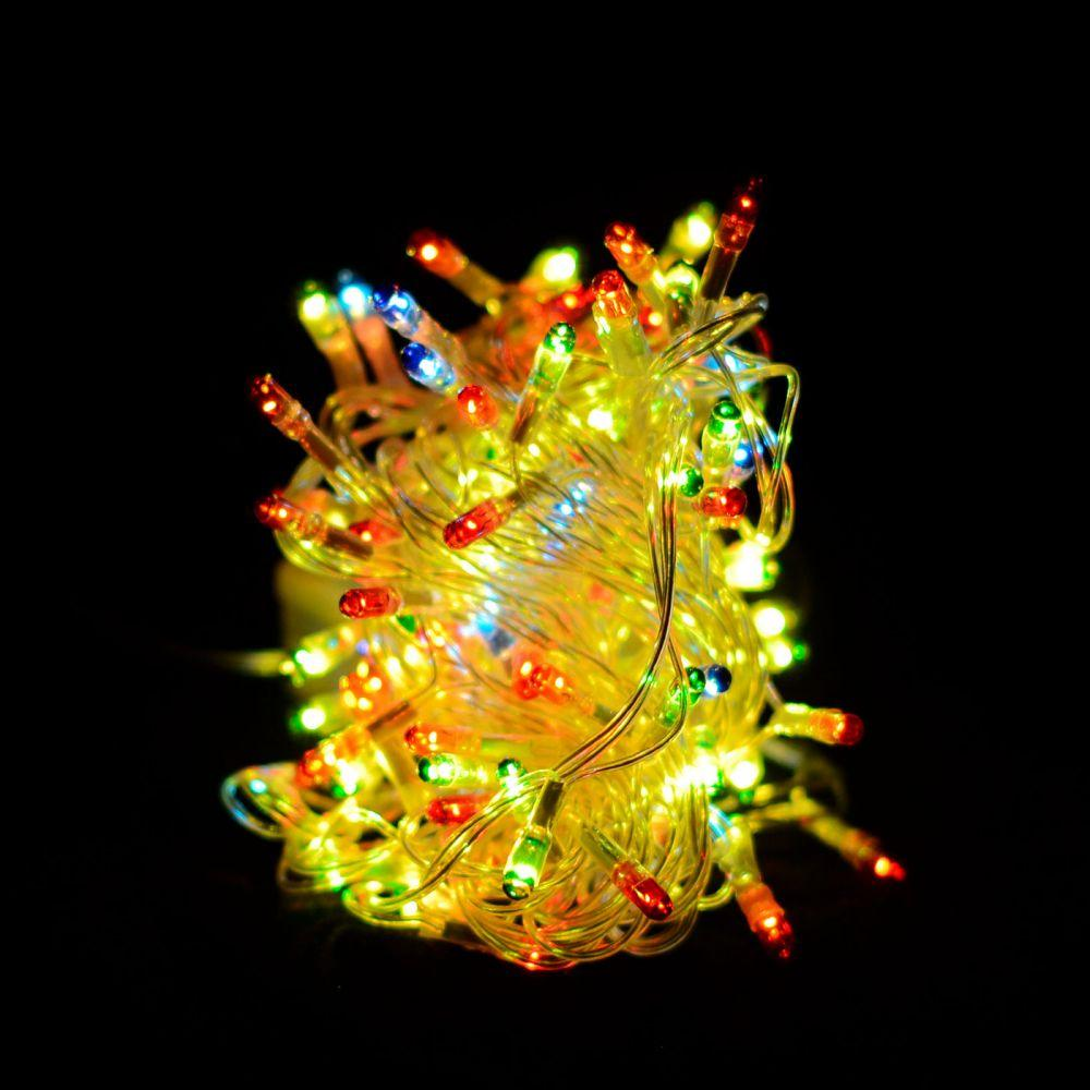 "Гирлянда светодиодная VENOM ""ПРОВОДНАЯ"" 100LED Микс, белый провод (LS-C-LED-100LED-WC-M)"