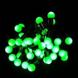 """Гірлянда світлодіодна VENOM """"Кульки"""" 40LED, чорний дріт (LS-CONE-40LED-BC-G) Зелений"""
