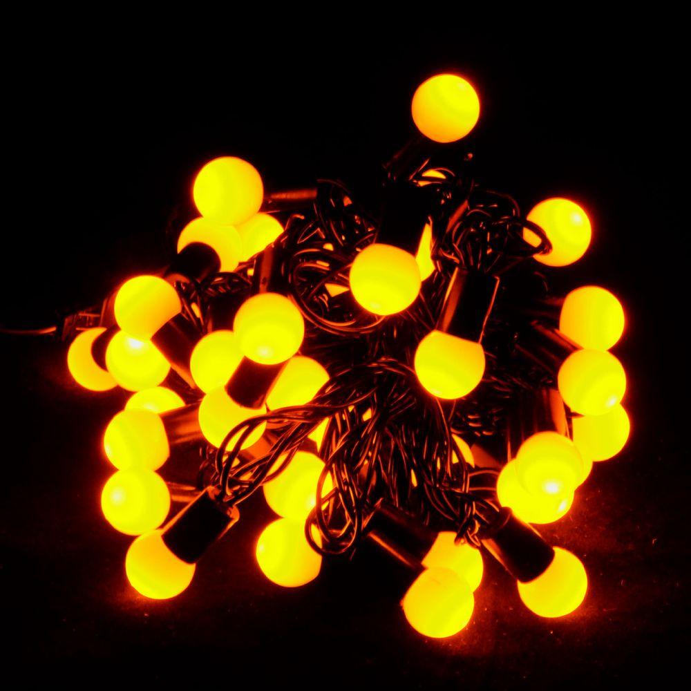 """Гирлянда светодиодная VENOM """"Шарики"""" 40LED, черный провод (LS-CONE-40LED-BC)"""