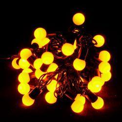 """Гірлянда світлодіодна VENOM """"Кульки"""" 40LED, чорний дріт (LS-CONE-40LED-BC)"""