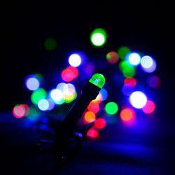 """Гирлянда светодиодная VENOM """"Линза"""" 100LED, черный провод (LS-LENS-100LED-BC-RGB)"""