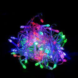 """Гірлянда світлодіодна VENOM """"Лінза"""" 100LED, білий провід (LS-LENS-100LED-WC-RGB)"""