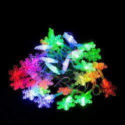 """Гірлянда світлодіодна VENOM """"Сніжинка"""" 30LED RGB, білий провід (LS-SNOWFLAKE-30LED-WC-RGB)"""