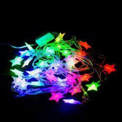 """Гірлянда світлодіодна VENOM """"Зірка"""" 30LED RGB, білий провід (LS-STAR-30LED-WC-RGB)"""