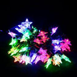 """Гірлянда світлодіодна VENOM """"Зірка"""" 40LED, чорний дріт (LS-STAR-40LED-BC-RGB) RGB"""