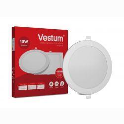Светильник LED врезной круглый Vestum 18W 4000K 220V