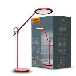 Настільна лампа VIDEX VL-TF15R 20W 4100K 220V червона