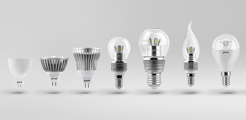 Типы формы светодиодных ламп